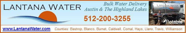 Lantana Water Bulk Water Austin TX pool water livestock events swimming pool delivery Highland Lakes Region