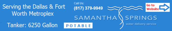 Samantha Springs Bulk Water Delivery Truck Service Dallas TX