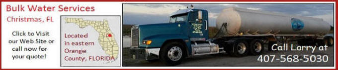 Walls Trucking Bulk Water Delivery Serving Central Eastern Florida.